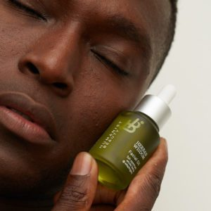 Mohamed with Herban Wisdom Facial Oil