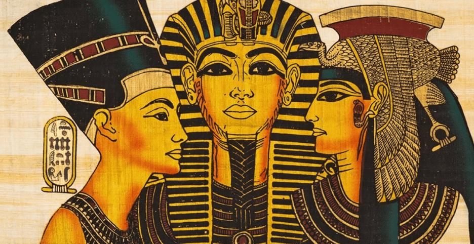 Egyptian men and women wearing makeup