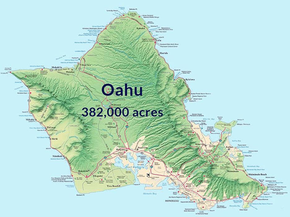 A Map of Oahu