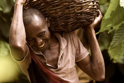 A man with his harvest basket